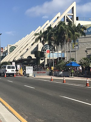 Harbor Drive was shut down between Park Boulevard and 1st Avenue.