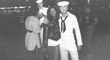 Sailors and friends on Broadway