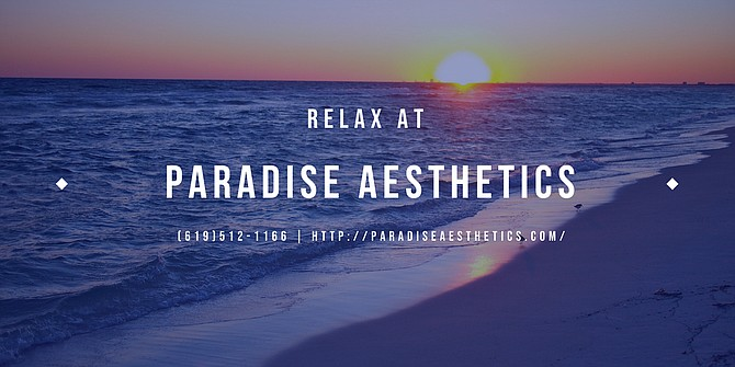 Relax at paradise Aesthetics call now to schedule your appointment