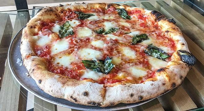 A classic margherita pizza