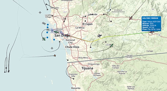 Air Traffic Control California Map.Airport Noise From La Mesa To La Jolla San Diego Reader