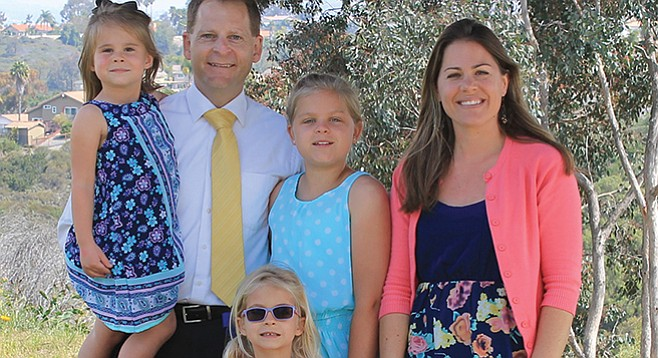 Pastor Paul Schulz, his wife Anna, and their children Emily, Rachael, and Megan.