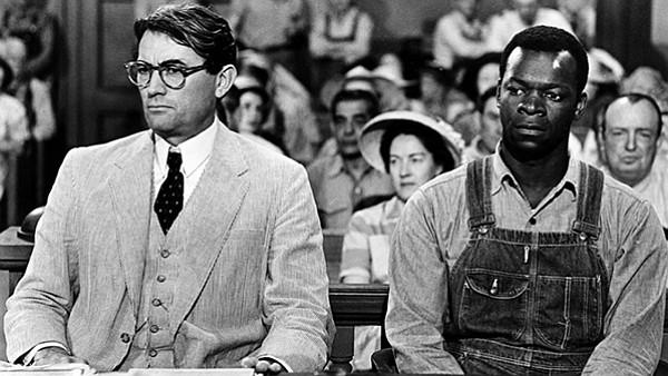 Atticus Finch (left) in To Kill a Mockingbird