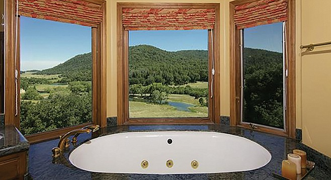 Clean country living: just one of Ahvsan Ranch's several viewing tubs