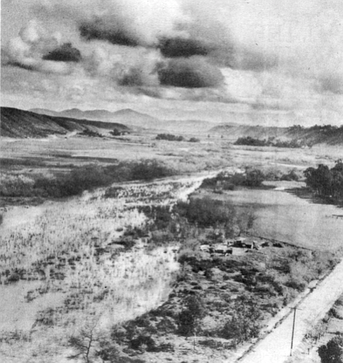 Mission Valley, 1935. In 1958 the city council listened to the May Company argue its case for building a shopping center on ninety acres near the geographical center of the valley.