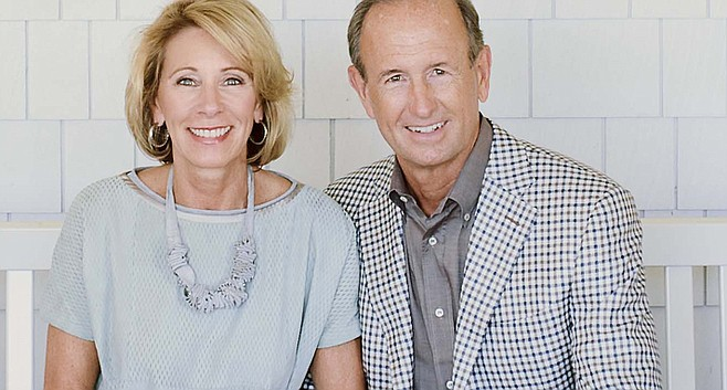 Betsy DeVos and husband from her website