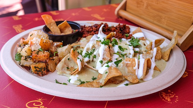 One of five chilaquiles dishes on the menu