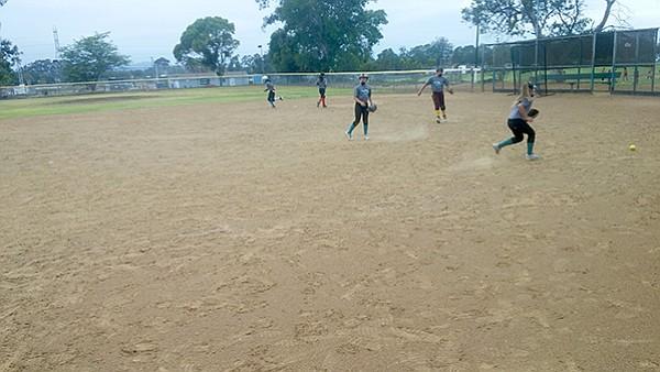 Infield practice