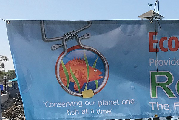 Randy's banner for his fish descender device