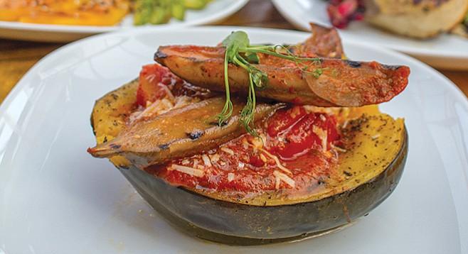 Garden Kitchen. Squash Puttanesca