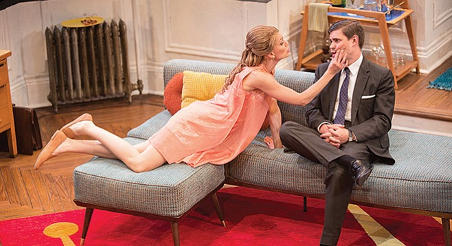 Kerry Bishé as Corie Bratter and Chris Lowell as Paul Bratter in Barefoot in the Park