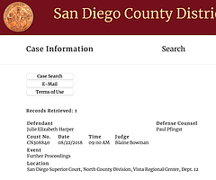 San Diego County DA's office website