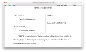 First page of appellate court decision