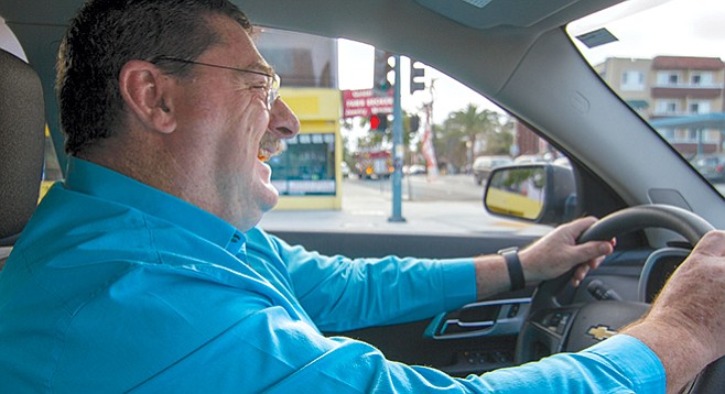 Uber driver Grant Madden - Image by Matthew Suárez