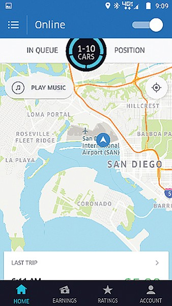 Good morning, Ma'am  I'm your Uber driver today  | San Diego