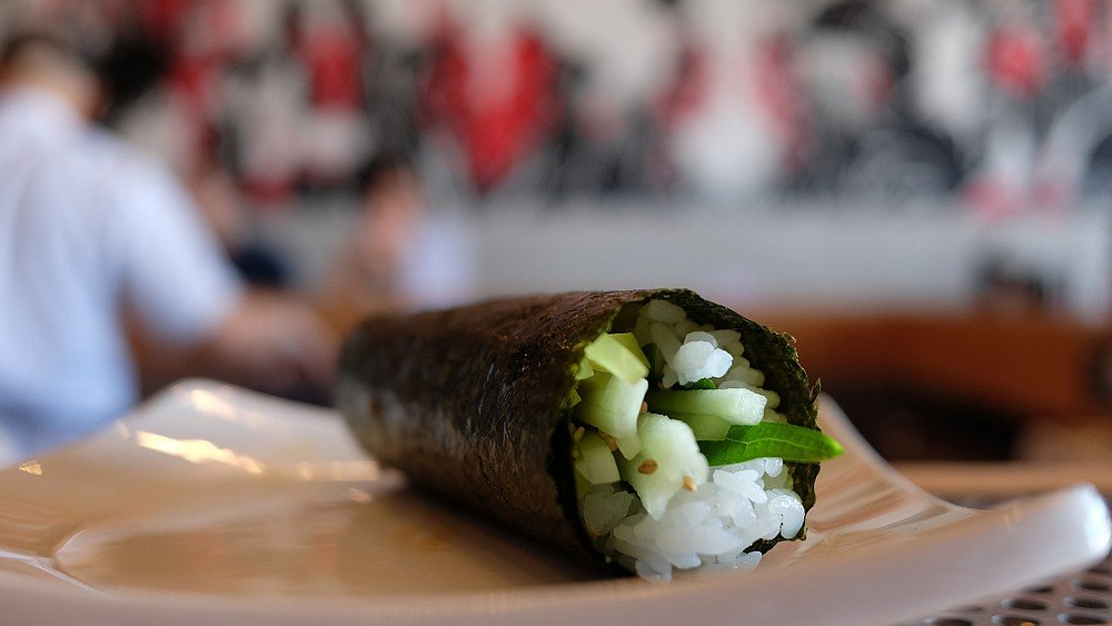 One of San Diego's best examples of vegetarian sushi