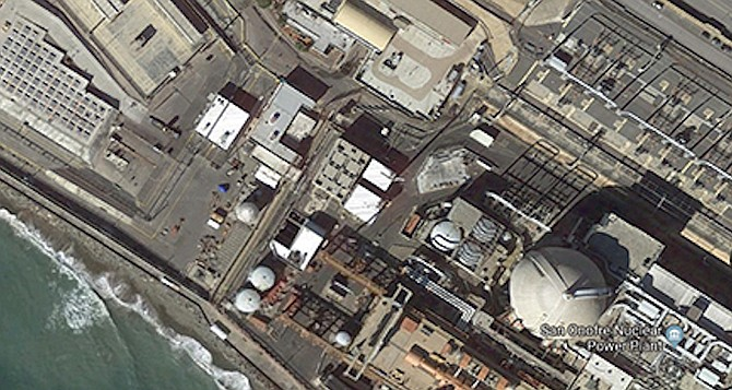 Satellite view of San Onofre from Google Earth