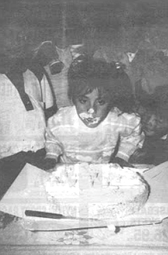 Rosa Marina celebrates her birthday one month before the accident.