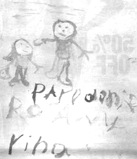 Picture made by Rosa for Dan when she was in hospital