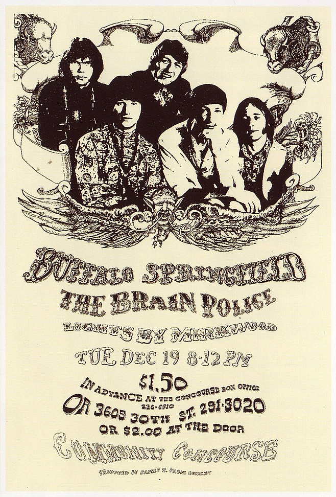 December 19, 1967 - Buffalo Springfield & Brain Police at Community Concourse