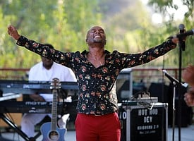 Kenny Lattimore reveling in the moment at Jazz at the Creek Summer Concert Series at Marketcreek Plaza.