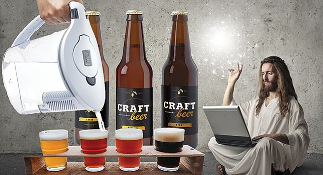 Hipster Jesus: turning water into craft beer