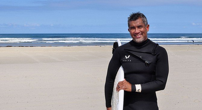"""Jules Nacario: """"Tip of my surfboard landed into my eye socket."""""""