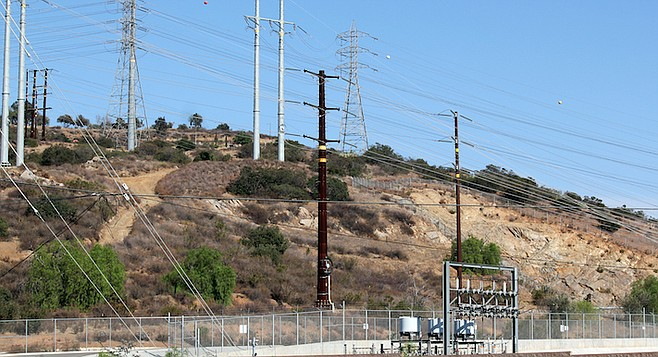 SDG&E is replacing wooden poles with steel.