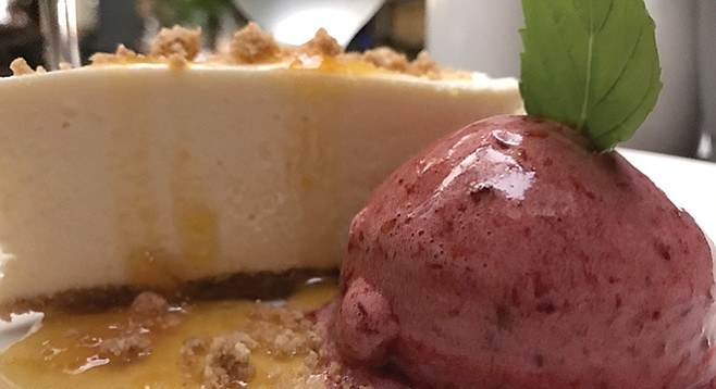 Dolce di Risa with sorbet