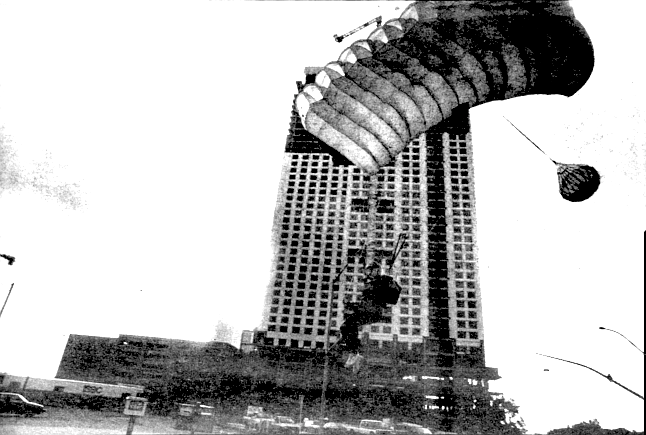 Finishing the jump at the Hyatt