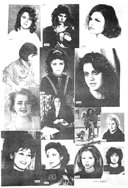 Page from Scanna International booklet of Russian women