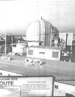 To guard against the release of radioactive debris from a loss-of-cooling accident or other event, a concrete containment structure with four-foot-thick walls surrounds each of the reactors.