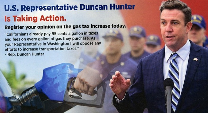 Duncan D. Hunter speaks to gas tax