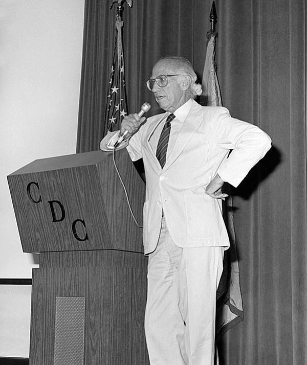 "Jonas Salk, 1988. A fellow U-T reporter was told by a middle-level editor, ""If Jonas Salk says it, we write it."""