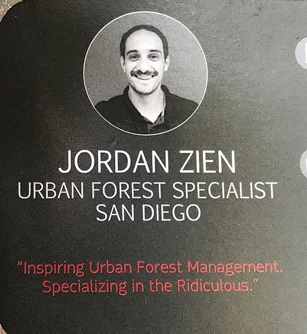 Jordan Zien's sense of fun comes through on his business card