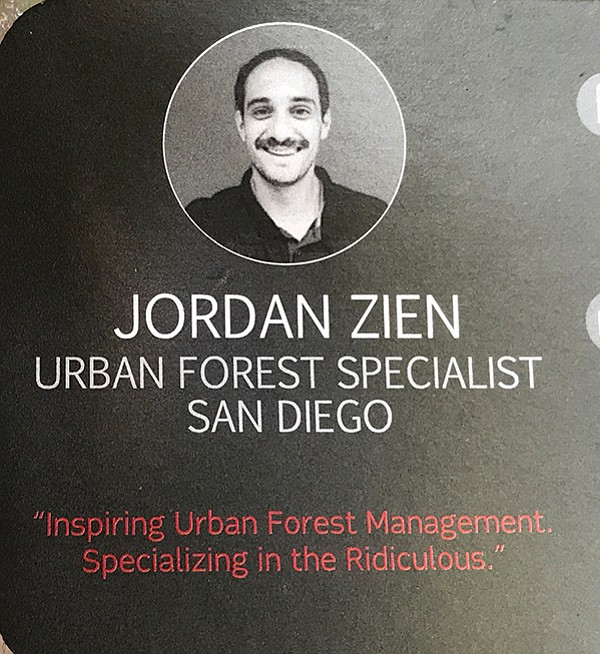 Jordan Zien's sense of fun comes through on his business card