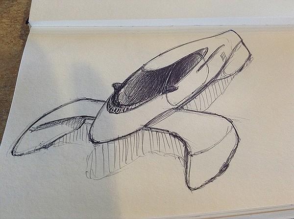 Len Stobar's sketchpad drawings for his C2C car