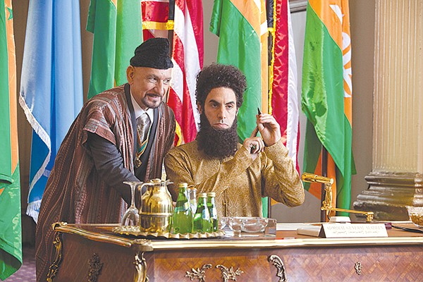 Working hard for the money opposite Sacha Baron Cohen in The Dictator.