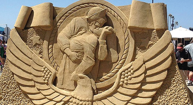 Sand Sculpture Challenge: hand-made sculptures that can reach up to 15 feet tall and can weigh over 10,000 pounds