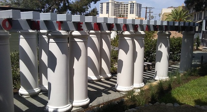 Is it worth preserving fiberglass columns that were inspired by Gill's actual wood columns, now long gone?