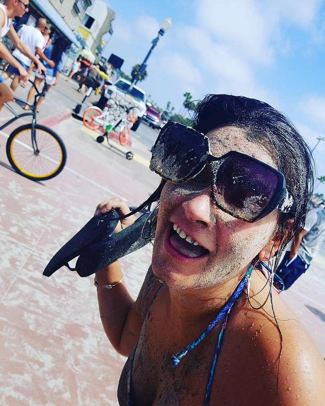 This is my friend Shelly after she ate SAND! Only in San Diego right! Oh boy......what ...the last days of summer looks like. Lol