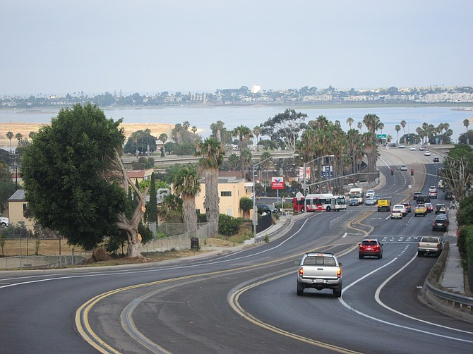 It's impossible to miss the tree when heading down Clairemont Drive toward the I-5 or Mission Bay Park.