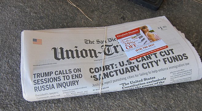 After delivering papers all morning, I found a free newspaper on my porch.