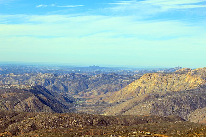 El Monte Valley from Viejas Peak