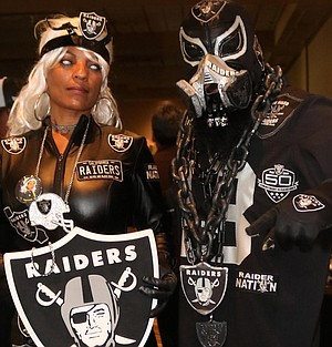 """Raider Storm's a season ticket holder from Oceanside and used to play women's tackle football with San Diego Surge. """"Our coach was a diehard Chargers fan."""""""