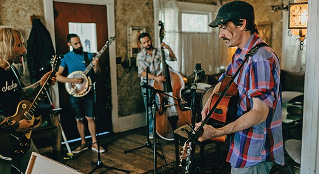 The Liquorsmiths have the three Bs — banjo, beards, and bass