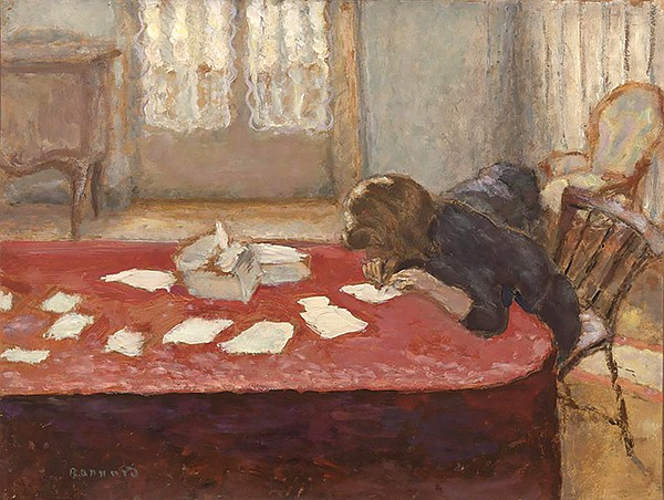 Young Woman Writing, by Pierre Bonnard