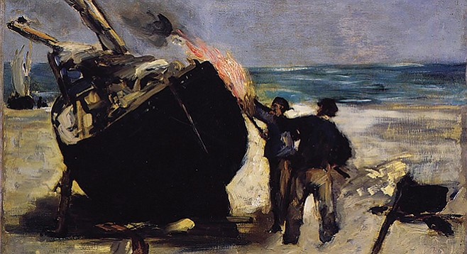 Tarring the Boat, by Edouard Manet