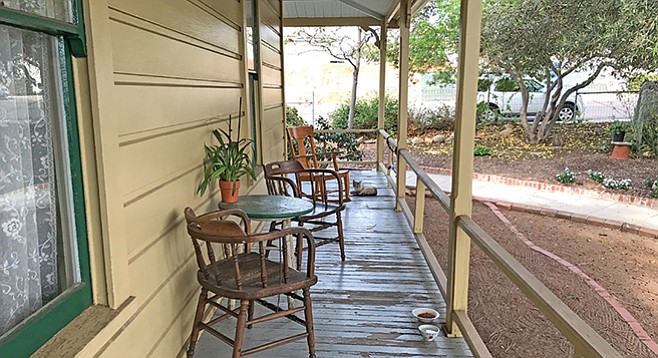The haunted porch: heavy feet, creaking boards