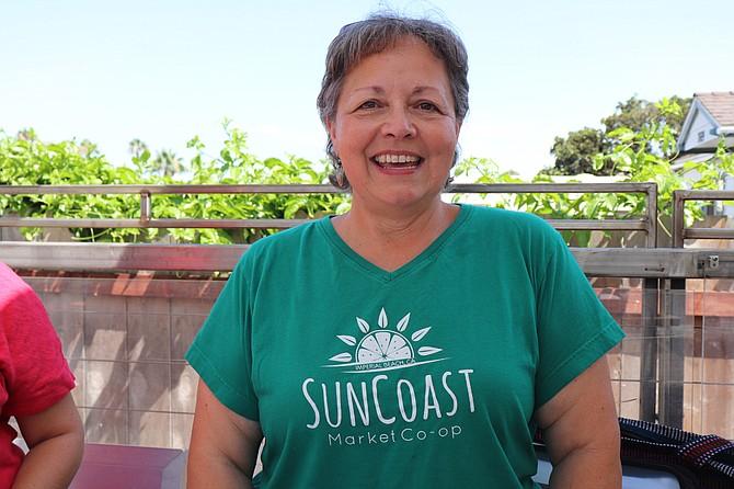 Kim Frink, volunteer board president of SunCoast Market Co-op.